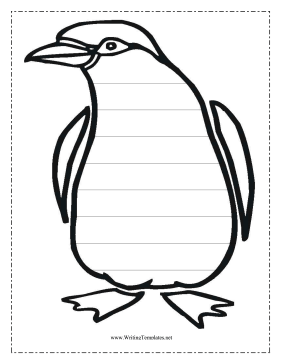 Penguin Writing Template Writing Template