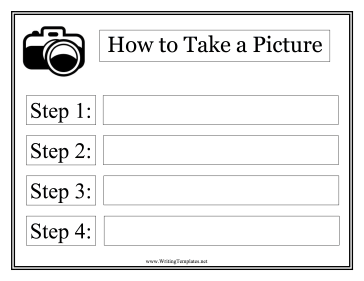 Picture Instructional Template Writing Template
