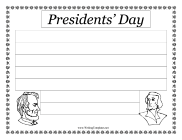 Presidents Day Writing Template Writing Template