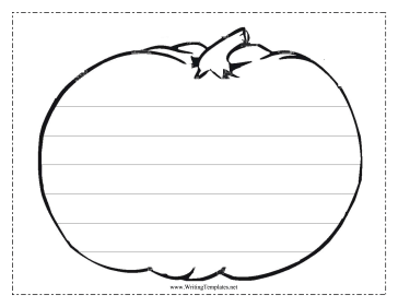 Pumpkin Writing Template Writing Template
