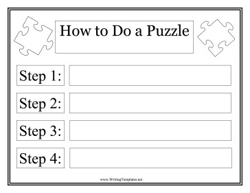 Puzzle Instructional Template Writing Template