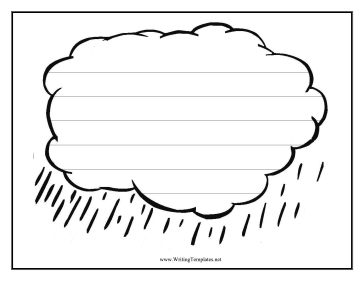 Rain Writing Template Writing Template  Blank Writing Sheet