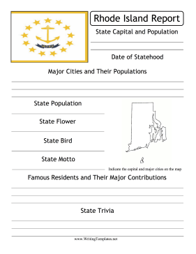 Rhode Island State Prompt Writing Template