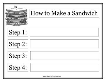Sandwich Instructional Template Writing Template