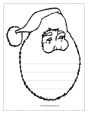 Santa Writing Template Writing Template