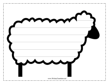 Sheep Writing Template Writing Template