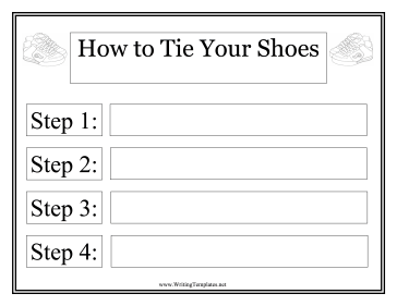 Shoes Instructional Template Writing Template