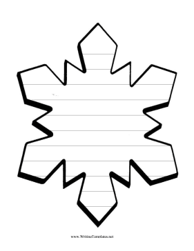 Snowflake Template | Snowflake Writing Template Writing Template