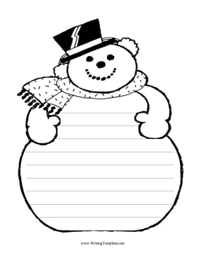 Snowman Writing Template Writing Template