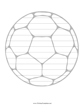 graphic regarding Soccer Ball Template Printable called Football Producing Template Creating Template