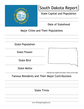 South Dakota State Prompt Writing Template