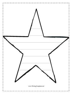 Star Writing Template Writing Template