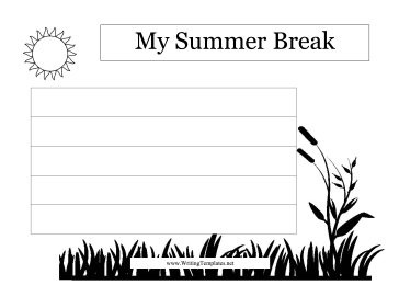 Summer writing template kubreforic maxwellsz