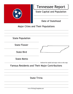 Tennessee Island State Prompt Writing Template