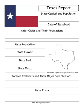 Texas State Prompt Writing Template