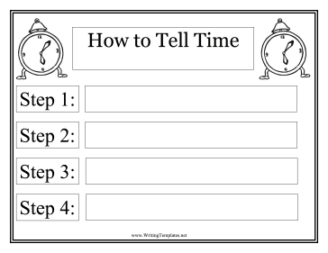 Time Instructional Template Writing Template