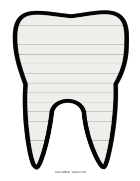 Tooth Writing Template Writing Template