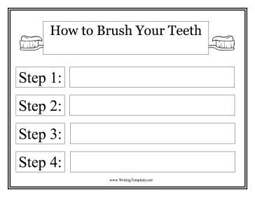 Toothbrush Instructional Template Writing Template