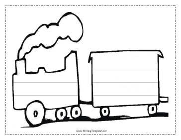Train Writing Template Writing Template