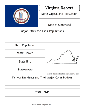 Virginia State Prompt Writing Template