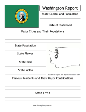 Washington State Prompt Writing Template