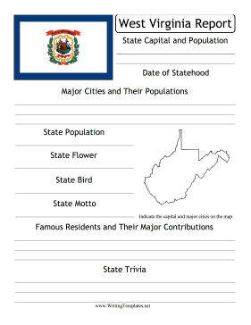 West Virginia State Prompt Writing Template