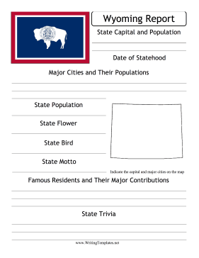 Wyoming State Prompt Writing Template